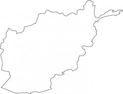 Afghanistan Map Outline