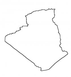 Algeria Map Outline