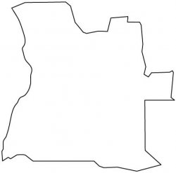 Angola Map Outline