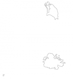 Antigua and Barbuda Map Outline