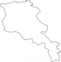 Armenia Map Outline