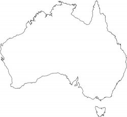 Australia Map Outline