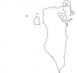 Bahrain Map Outline