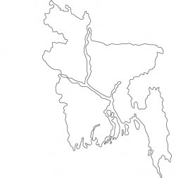 Bangladesh Map Outline