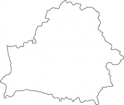 Belarus Map Outline