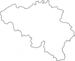 Belgium Map Outline