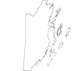Belize Map Outline
