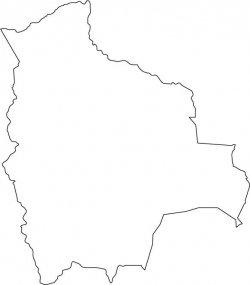 Bolivia Map Outline