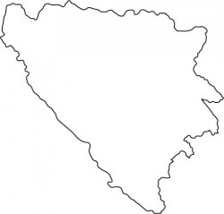 Bosnia-Hertzegovina Map Outline