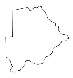 Botswana Map Outline