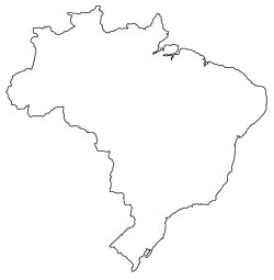Brazil Map Outline