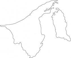 Brunei Map Outline