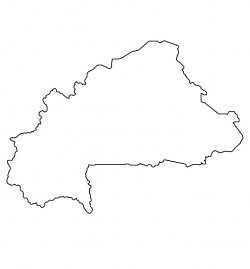 Burkina Faso Map Outline