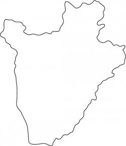 Burundi Map Outline