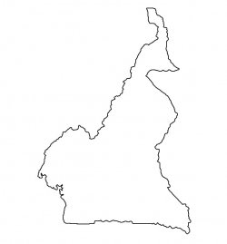 Cameroon Map Outline
