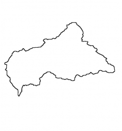 Central African Republic Map Outline