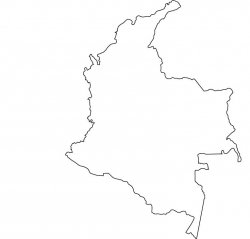 Colombia Map Outline