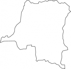 Democratic Republic of the Congo Map Outline