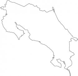 Costa Rica Map Outline