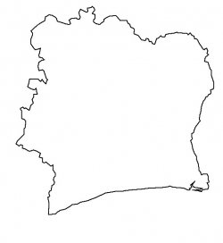 Ivory Coast (Côte D'Ivoire) Map Outline