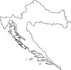 Croatia Map Outline