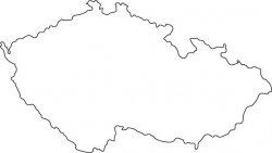 Czech Republic Map Outline