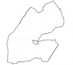 Djibouti Map Outline