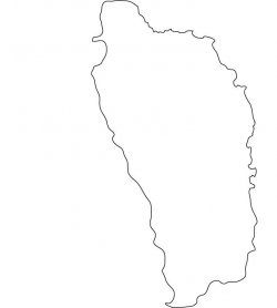 Dominica Map Outline