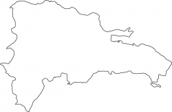 Dominican Republic Map Outline