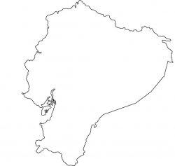 Ecuador Map Outline