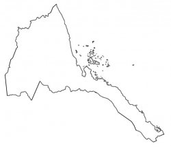 Eritrea Map Outline