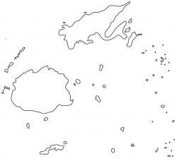 Fiji Map Outline
