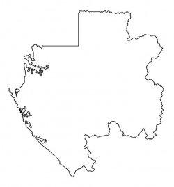 Gabon Map Outline
