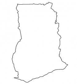Ghana Map Outline