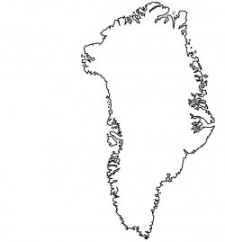 Greenland Map Outline