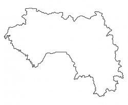Guinea Map Outline