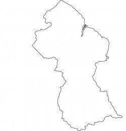 Guyana Map Outline