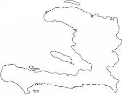 Haiti Map Outline