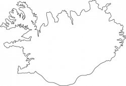 Iceland Map Outline