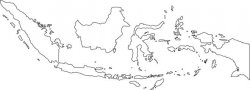 Indonesia Map Outline