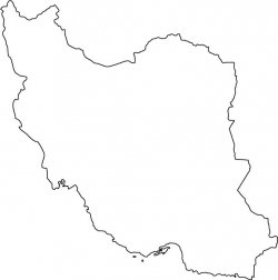 Iran Map Outline