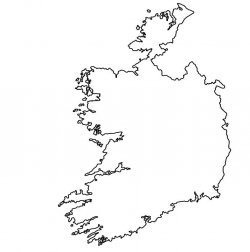 Ireland Map Outline