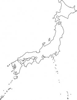 Japan Map Outline