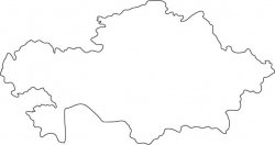 Kazakhstan Map Outline