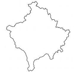 Kosovo Map Outline