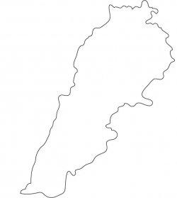 Lebanon Map Outline