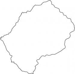 Lesotho Map Outline