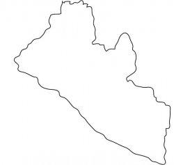Liberia Map Outline