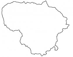 Lithuania Map Outline