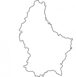 Luxembourg Map Outline